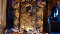 H κατά θαυμαστόν τρόπον εύρεση της θαυματουργού εικόνος της Παναγίας της Πορταϊτίσσης στο Κάθισμα της Παναγίας εις την Ιεράν Μονήν των Ιβήρων - Αγίου Όρους.