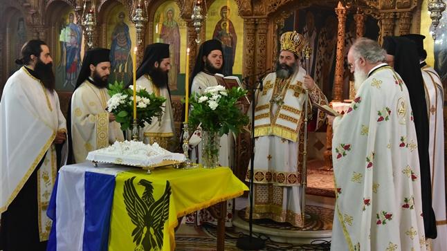 (Δελτίο Τύπου) Αρχιερατική Θεία Λειτουργία εις τον Ιερό Ναό Αγίας Κυράννης - Όσσας