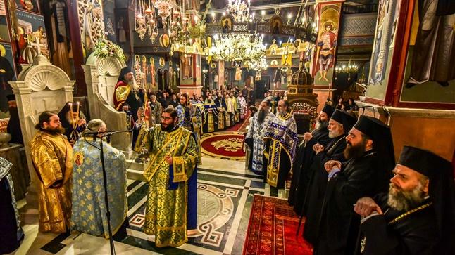 (Δελτίο Τύπου) Πανηγυρικός  Πολυαρχιερατικός Εσπερινός επί τη Ιερά Μνήμη της Συνάξεως του Τιμίου Προδρόμου και Βαπτιστού Ιωάννου εις τον Ι.Μ.Ν. Αγ. Παρασκευής - Λαγκαδά