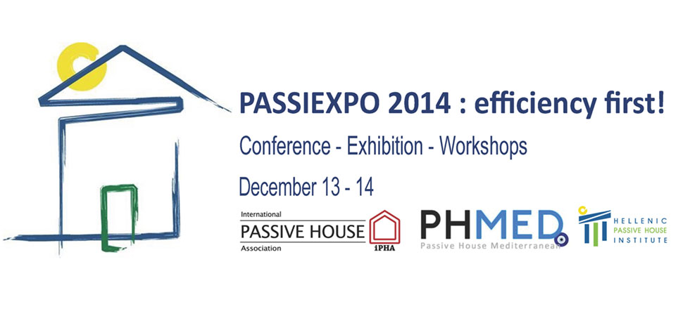3rd Panhellenic Conference for Passive Buildings: PASSIEXPO2014