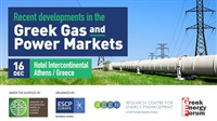 Recent developments in the Greek Gas and Power Markets