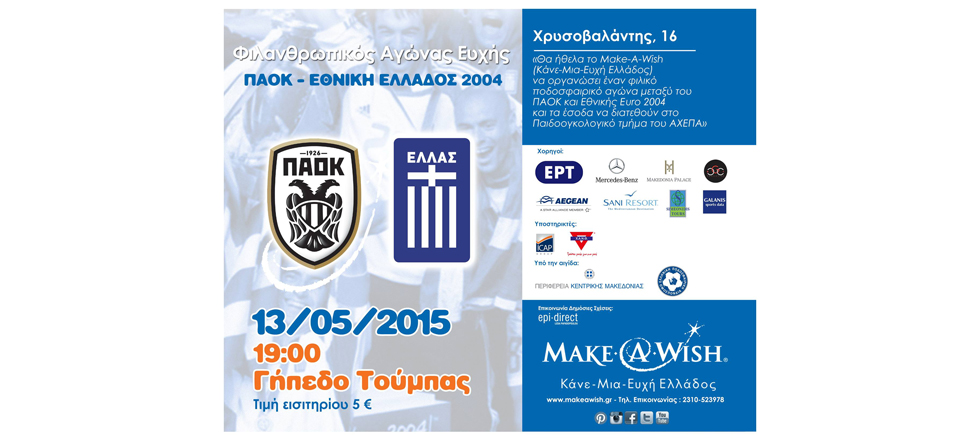 Football game between PAOK FC and National Greece Champion of Europe 2004