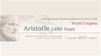 "World Congress ""Aristotle 2400 Years"""
