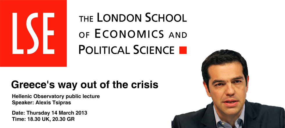 Live from LSE | Alexis Tsipras | Greece's way out of the crisis