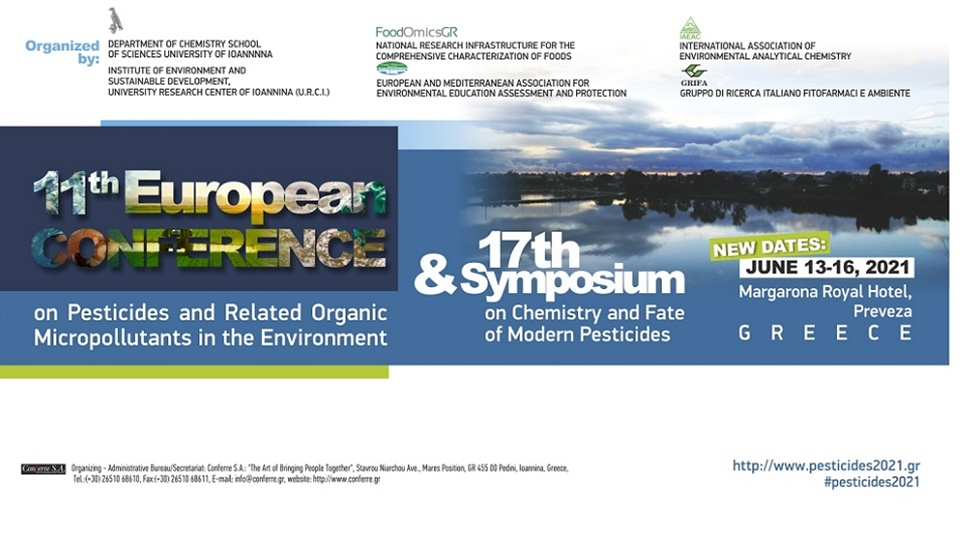 11th European Conference on Pesticides and Related Organic Micropollutants...