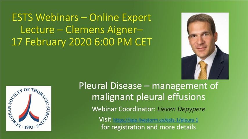 Courses | Pleural Disease - management of malignant pleural effusions