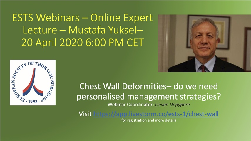 Courses | Chest Wall Deformities– do we need personalised management strategies?