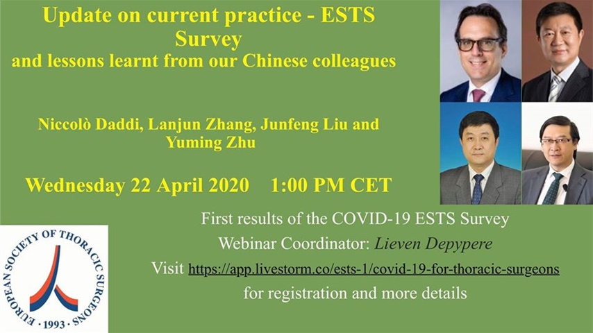ESTS Webinar - COVID 19  Update on Current Practice - ESTS Survey...
