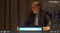 Ο πρόεδρος του ΦΣΘ Διονύσης Ευγενίδης μιλάει στο 8ο πανελλήνιο...