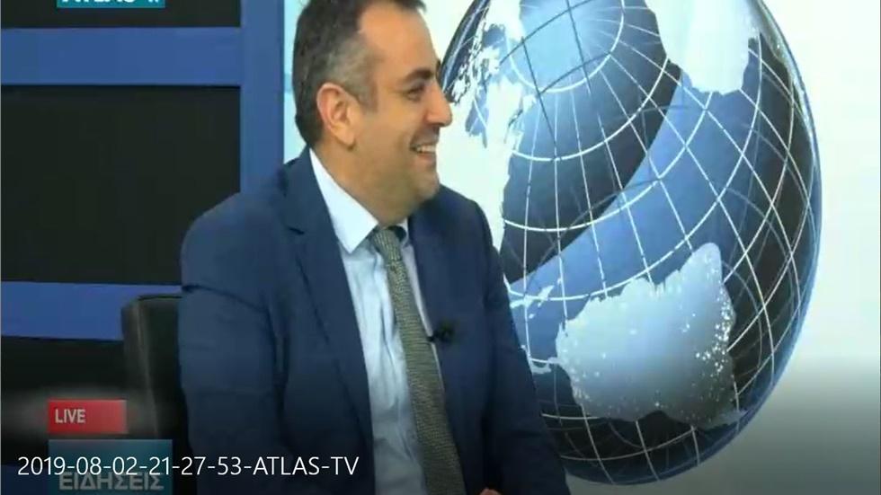 Συνέντευξη του Ταμία του ΦΣΘ Γ. Κιοσέ στο ATLAS TV για ελλείψεις φαρμάκων και φαρμακείο διακοπών  02.08.19