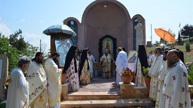 Αρχιερατική Θεία Λειτουργία στο ιερό προσκύνημα διελεύσεως του Αποστόλου Παύλου - Δερβενίου