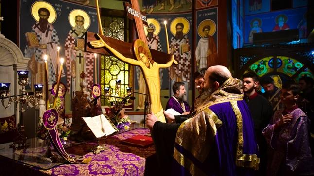 (Δελτίο Τύπου) Η Ακολουθία τω Παθών του Κυρίου μας εις τον Ιερό Μητροπολιτικό ναό Αγ. Παρασκευής - Λαγκαδά