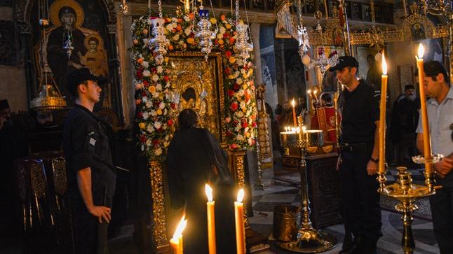 (Δελτίο Τύπου) Ιερά Πανήγυρις του Άξιον Εστί εις τον πάνσεπτο Ιερό ναό του Πρωτάτου - Άγιου Όρους