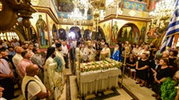 (Δελτίο Τύπου) Πανηγυρική Αρχιερατική Θεία Λειτουργία επί τη εορτή της Κοιμήσεως και η εις τους Ουρανούς Μετάσταση της Υπεραγίας Θεοτόκου