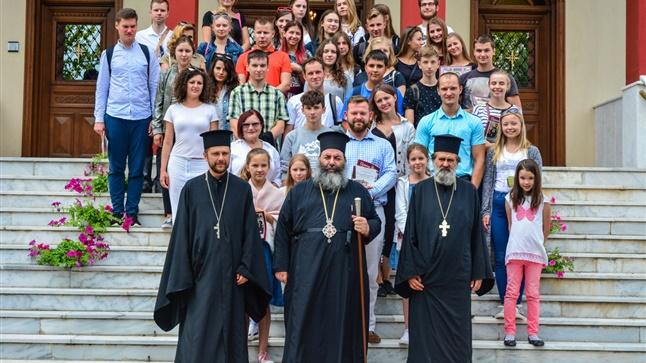 (Δελτίο Τύπου) Επίσκεψη της Χορωδίας του Καθεδρικού Ναού του Αγίου Αλεξάνδρου Nevskiy εις την Ιερά Μητρόπολη Λαγκαδά