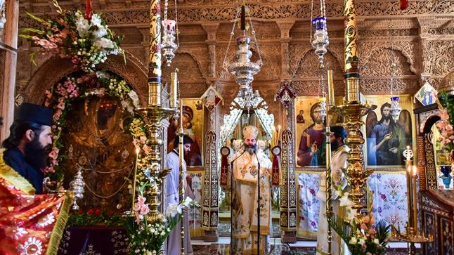 (Δελτίο Τύπου) Πανηγυρική  Αρχιερατική Θεία Λειτουργία εις την Ιερά Μονή Παναγίας Θεοσκεπάστου - Σοχού