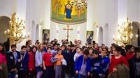 (Δελτίο Τύπου) Ιερό Ναό αφιερωμένο στους νέους και τα παιδιά εγκαινίασε ο Αρχιεπίσκοπος στην ΜητρόποληΛαγκαδά
