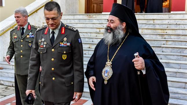 (Δελτίο Τύπου) Επίσκεψη Αρχηγού Γ.Ε.Σ. κ. Αλκιβιάδη Στεφανή και Αρχιερατική Θεία Λειτουργία εις τον Ιερό Ναό του Αγίου Νικολάου Λαγυνών