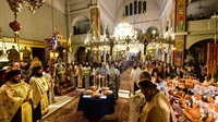 (Δελτίο Τύπου) Ο Θεοφιλέστατος Επίσκοπος Πύργου κ. Ηλίας εις τον Ιερό Ναό του Αγίου Νικολάου Λαγυνών
