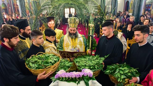 (Δελτίο Τύπου) Κυριακή των Βαΐων εις την Ιερά Μητρόπολη Λαγκαδά, Λητής και Ρεντίνης