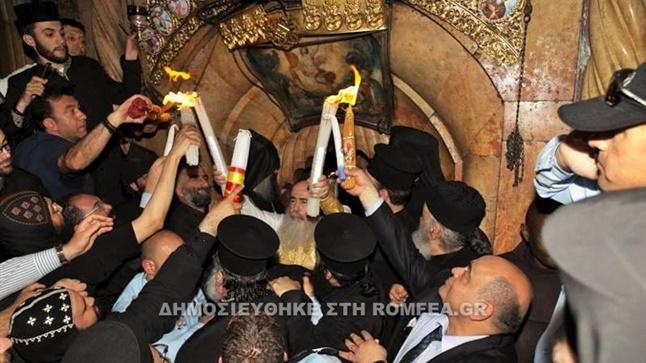 (Δελτίο Τύπου) Η αφή του Αγίου Φωτός στον Πανάγιο Τάφο