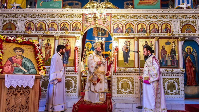 (Δελτίο Τύπου) Αρχιερατική Θεία Λειτουργία εις τον Ι.Ν. Αποστόλου Θωμά - Βόλβης