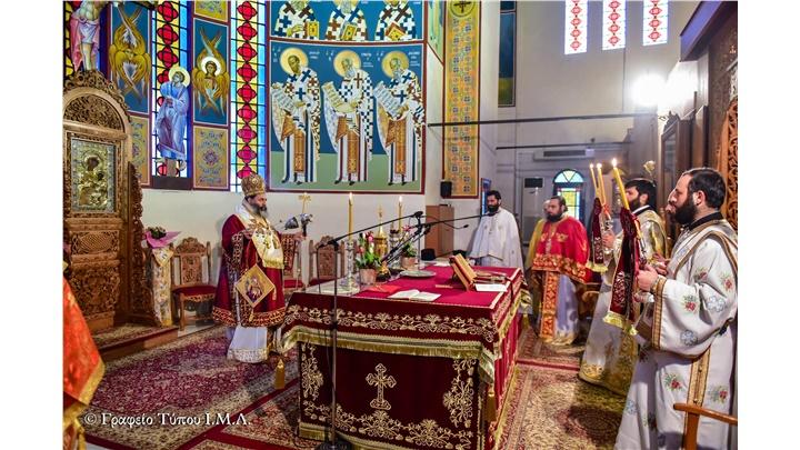 (Δελτίο Τύπου) Αρχιερατική Θεία Λειτουργία εις τον Ιερό ναό Αγ. Κωνσταντίνου και Ελένης- Ασσήρου