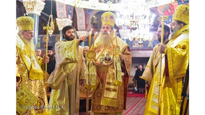 (Δελτίο Τύπου) Αρχιερατικό Συλλείτουργο επί τη εορτή του Αγίου Δαμασκηνού Επισκόπου Λητής και Ρεντίνης