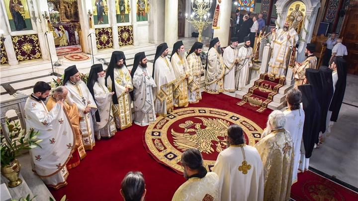 (Δελτίο Τύπου) Πανηγυρική Αρχιερατική Θεία Λειτουργία επί τη εορτή της Συνάξεως του Αγίου Πνεύματος εις τον Ι.Ν. Αγίας Τριάδος Θεσσαλονίκης