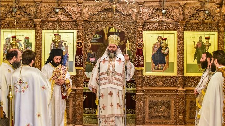 (Δελτίο Τύπου) Αρχιερατική Θεία Λειτουργία εις τον Ιερό ναό Κοιμήσεως της Θεοτόκου- Λαγκαδά
