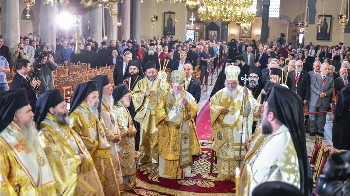 (Δελτίο Τύπου) Συλλείτουργο της Α.Θ.Π. του Οικουμενικού Πατριάρχου κ.κ. Βαρθολομαίου και της Α.Θ.Μ. του Αρχιεπισκόπου Αθηνών και πάσης Ελλάδος κ.κ. Ιερωνύμου, εις τον Ιερό Ναό της Παναγίας Αχειροποιήτου Θεσσαλονίκης