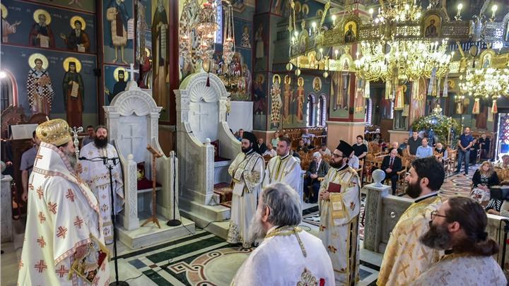 (Δελτίο Τύπου) Αρχιερατική Θεία Λειτουργία - χειροτονία εις τον Ιερό Μητροπολιτικό ναό Αγ. Παρασκευής- Λαγκαδά