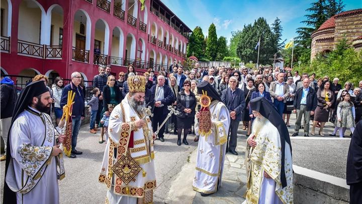 (Δελτίο Τύπου) Πανηγυρική Αρχιερατική Θεία Λειτουργία επί τη εορτή της Αναλήψεως εις την Ιερά Μονή Παντοκράτορος