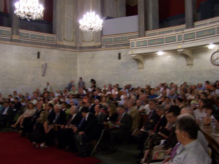 Άποψη από την αίθουσα της Παλαιάς Βουλής