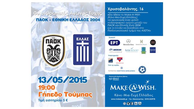 Φιλικός αγώνας ΠΑΕ ΠΑΟΚ - Εθνική EURO 2004