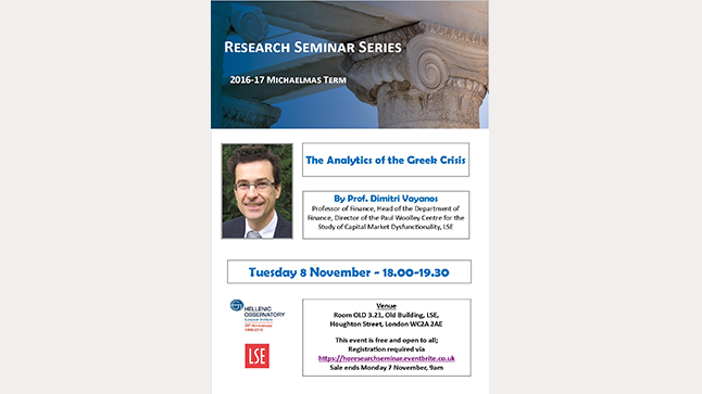 2016-17 Seminar Series |  The Analytics of the Greek Crisis