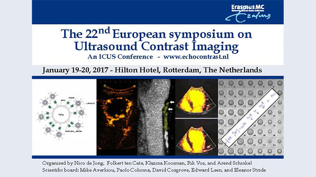 Congresses | The 22nd European symposium on Ultrasound Contrast Imaging