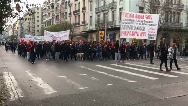 Violent Episodes and Protest Marches in Athens and Thessaloniki...