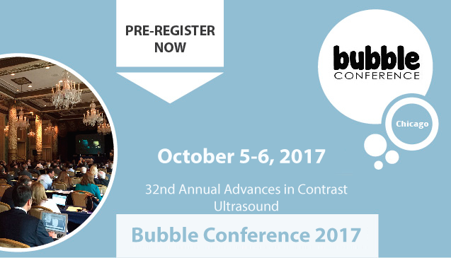 The 32nd Annual Advances in Contrast Ultrasound - Bubble Conference...