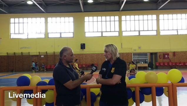 Το Livemedia στην τελευταία προπόνηση της ομάδας Καλαθοσφαίρισης...