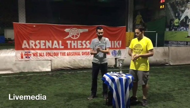 The Arsenal Fan Club raises the 2nd consecutive cup