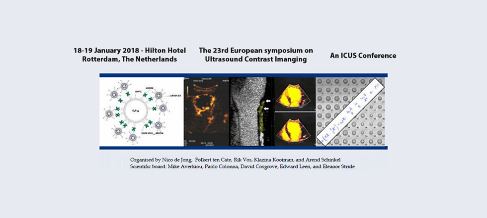 The 23rd European symposium on Ultrasound Contrast Imaging
