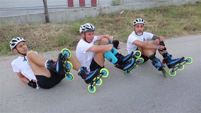 1.000 klm on Powerskates! Ready for the Guinness Record!