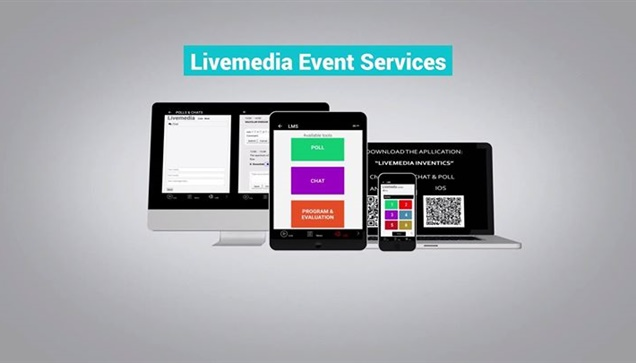Livemedia Event Services!E-program, evaluation, notes, chat,...