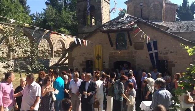 Η γιορτή της Παναγιας, στο Μοναστήρι της Κοιμησεως της Θεοτόκου...