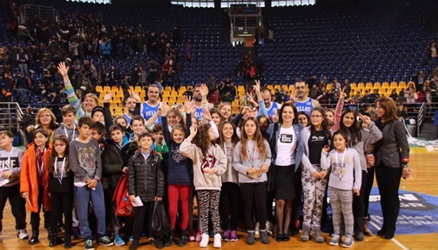 The photostory from the game between the Hellenic Basketball...