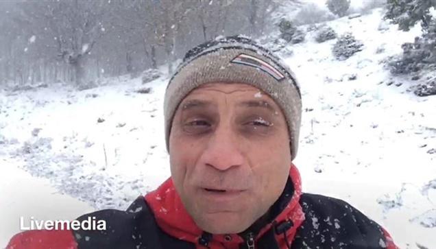 Χιονίζει αυτή την ώρα στον Ταξιάρχη της Ορεινής Χαλκιδικής