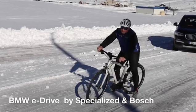 Στα Χιόνια με BMW X3 2.0 d Xdrive  καθώς και το νέο e-bike BMW...