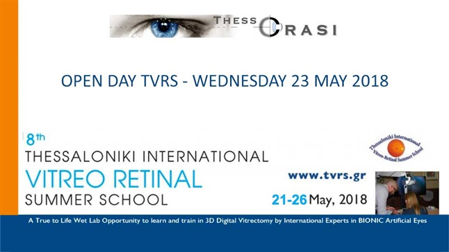 Congresses | Open Day 8th TVRS