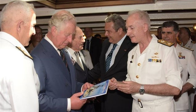 Την τριήρη «ΟΛΥΜΠΙΑΣ» και το Θωρηκτό «Αβέρωφ» επισκέφθηκε ο Πρίγκιπας της Ουαλία...